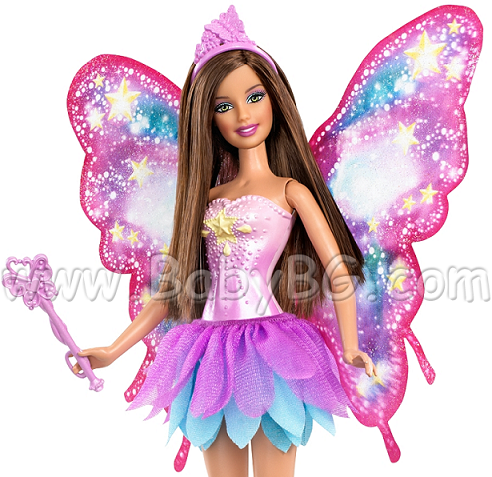 Barbie барби фея с крила и пръчка lila