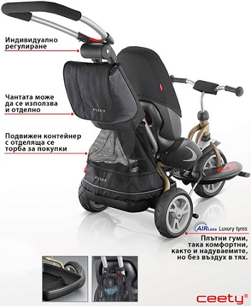 2b35ca51ffd High backrest, 5-point safety belt and adjustable footrest facilitate  maximum each journey urban. Comfort for parents is secured by an adjustable  ergonomic ...