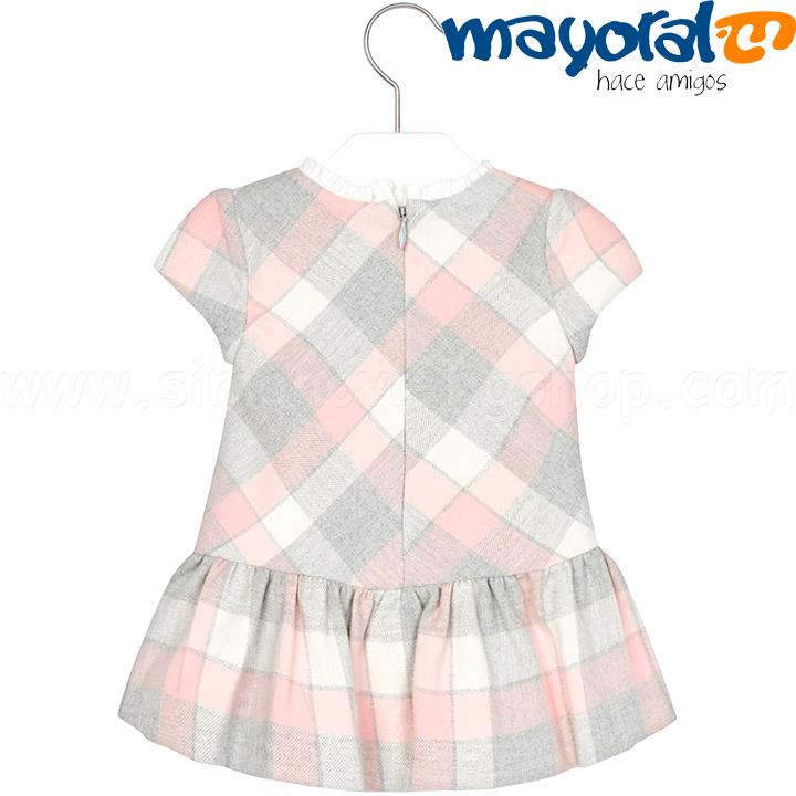 8041bc372d5 Mayoral Бебешка рокля с къс ръкав 2911 Col.27 (6-36м.) Детски ...