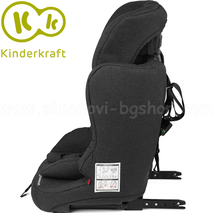 столче за кола 9-36кг 22235 kinderkraft fix2go izofix black