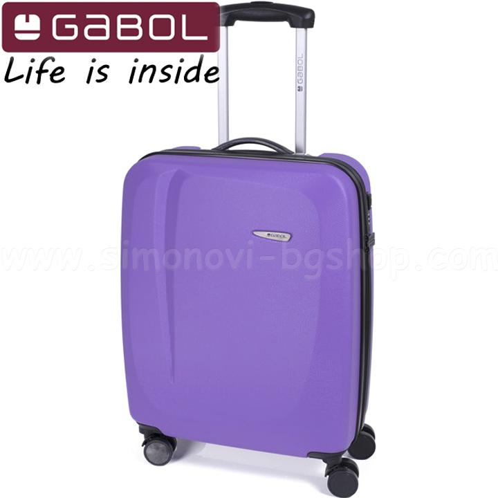 7828c09f691 Gabol Твърд куфар за път 55 см. ABS Lilac – Line 11232225