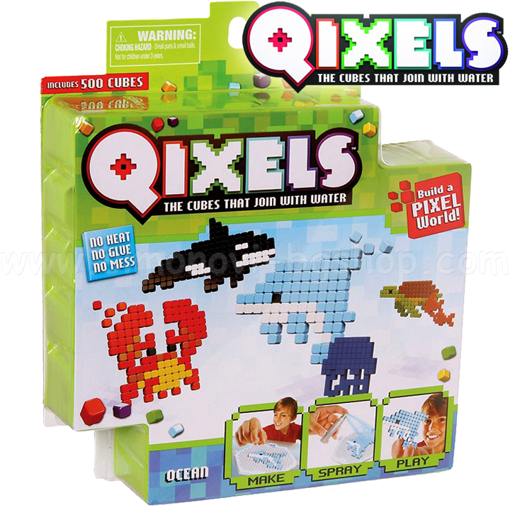 Qixels Starter Pack 500 Cubes Accessories Ocean S2 87013 1