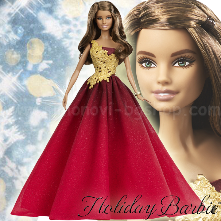 Barbie 2017 Holiday Doll Blonde Hair: * 2017 Barbie ™ Holiday Barbie Doll Lovely Red Gown DRD25
