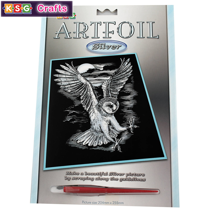 KSG Artfoil Silver White Tiger Craft Kit 1017