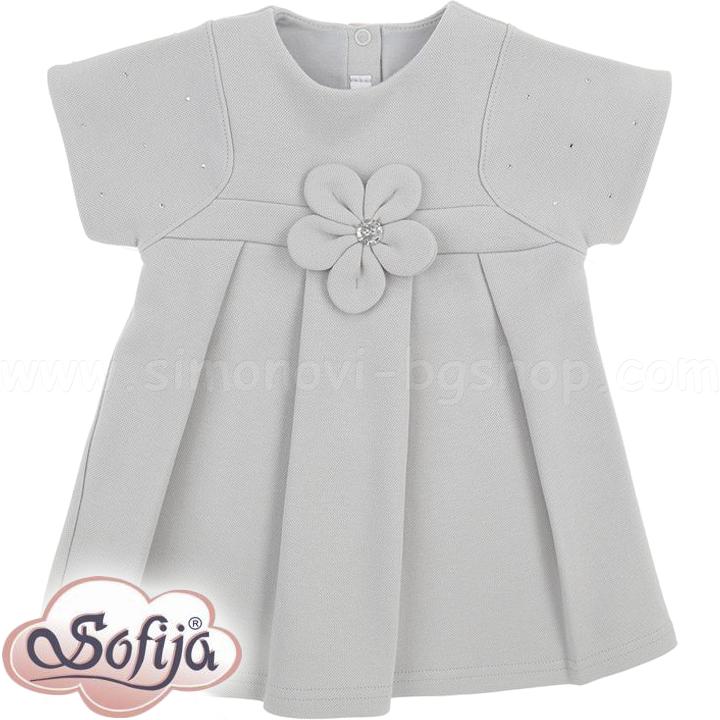 936e17da7cc Sofija Бебешка рокличка Miriam в сиво (74-92см)