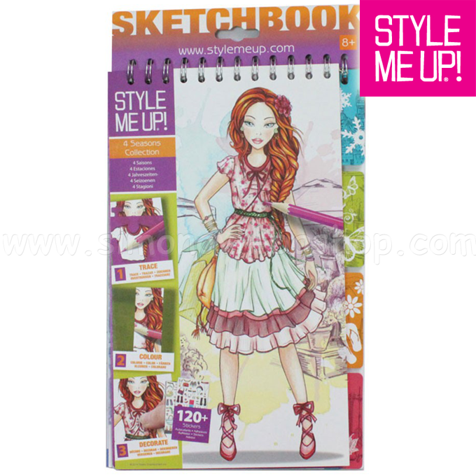 Style Me Up! Children sketchbook template 4 SEASONS 1404