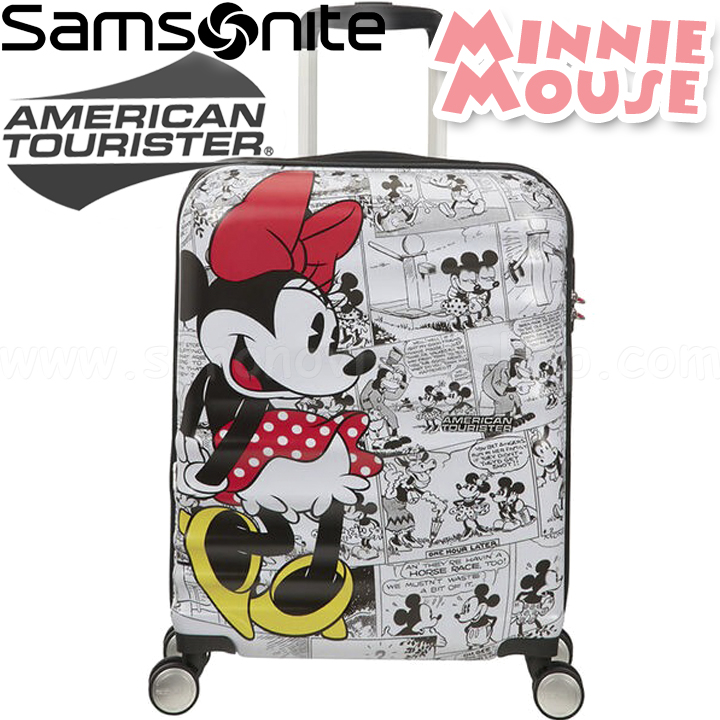 Trolley American Tourister disney legends spinner M 19C*007 minnie mouse polka d