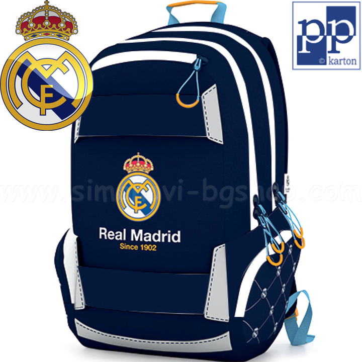 5cf916ccbb1 Real Madrid Ергономична ученическа раница Sport 7-69418 Karton P+P ...