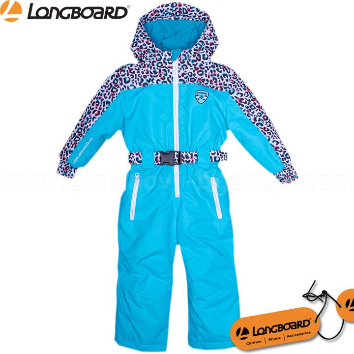 c514f9d39ec Longboard Детски ски гащеризон за момиче LBoard Blue 69655-2
