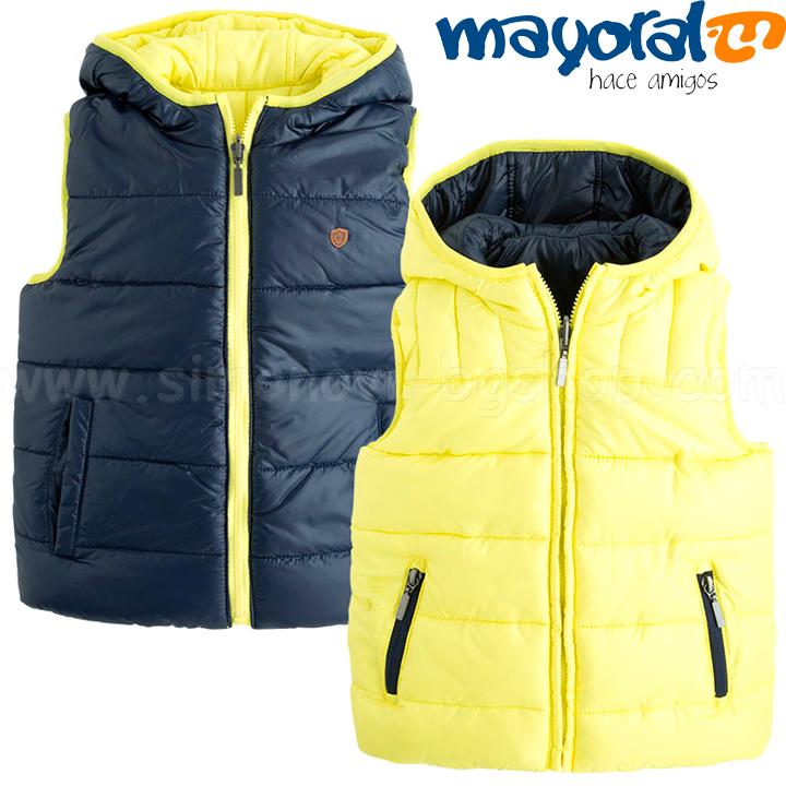 7b8331f0568 *Mayoral Boys Елек с две лица Blue/Yellow 4456