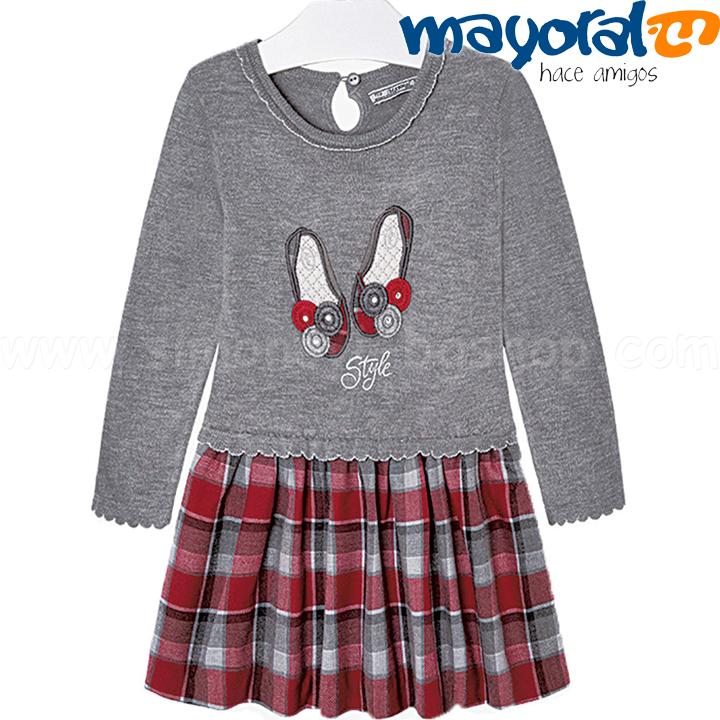 cb67bae65b8 Mayoral Girls Детска рокля с дълъг ръкав Col.57 (2-9г.) 4927 Детски ...