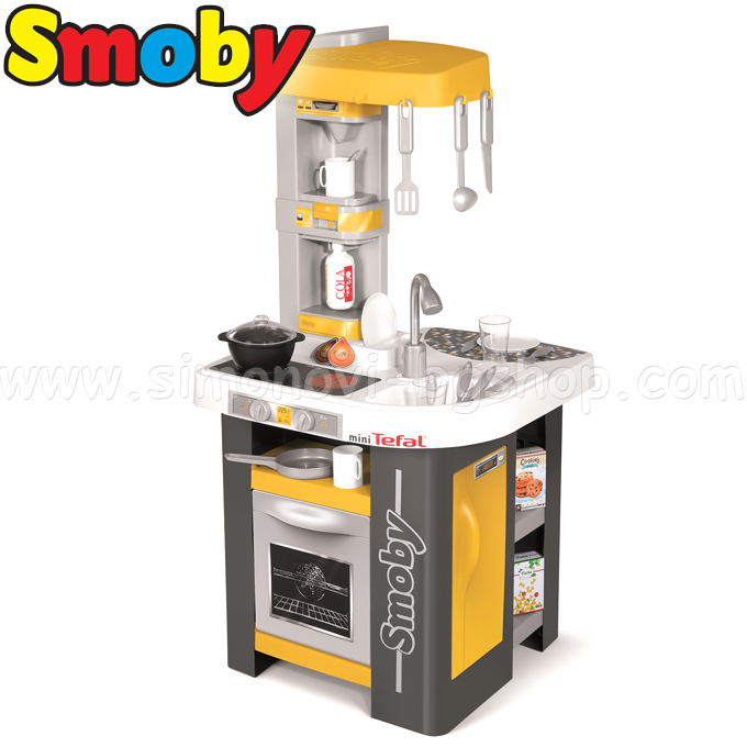 Smoby children mini tefal kitchen with accessories with for Cuisine smoby loft